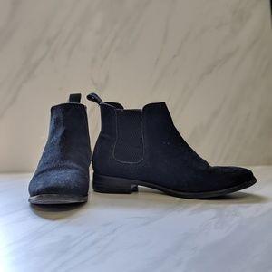 Toms Ella Chelsea boots black suede